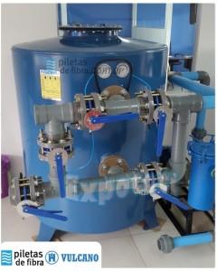 Equipo purificador VB-400 Acero inoxidable para piscinas de 900000 litros. Caudal de filtrado 80000 l/h aprox.