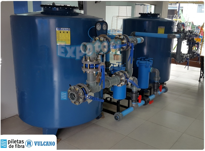 Sala de filtros para aguas salitrosas - Vulcano